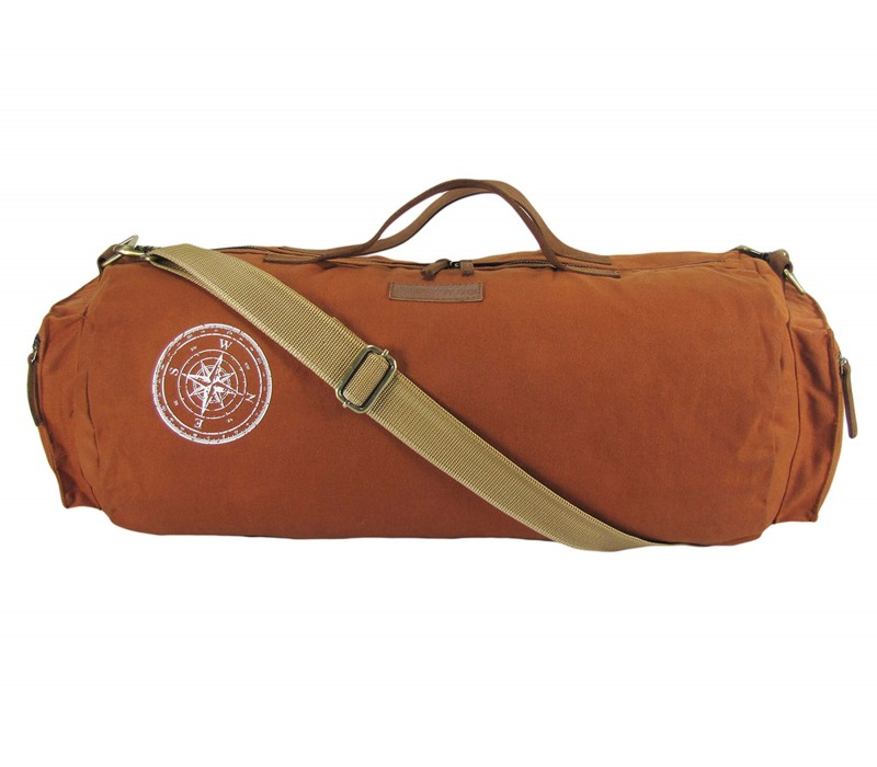 Waxed Canvas Duffle/Gym Bag (Rust)