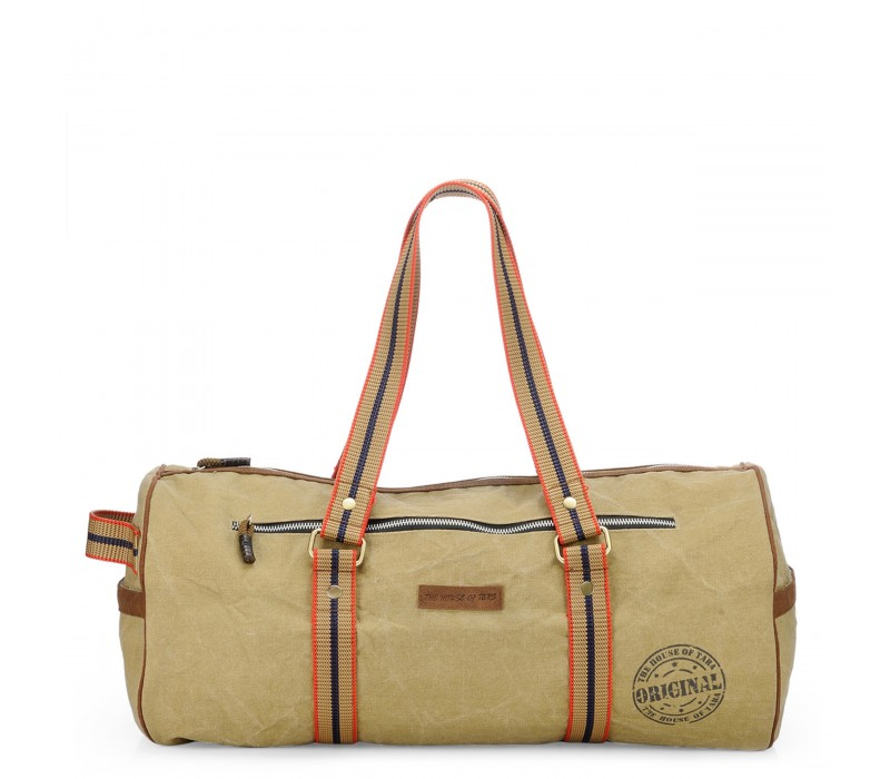 Distress Finish Canvas Duffle Bag  (Desert Storm)
