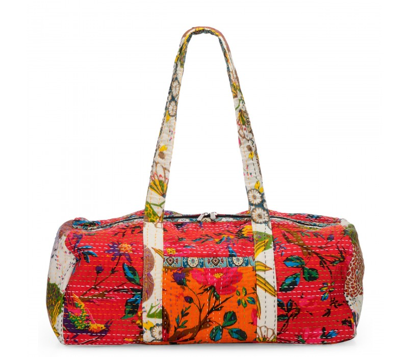 Vintage Fabric Patchwork Duffle Bag HTD 132