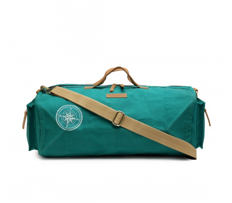 Canvas Duffle/Gym Bag (Teal) HTD 140
