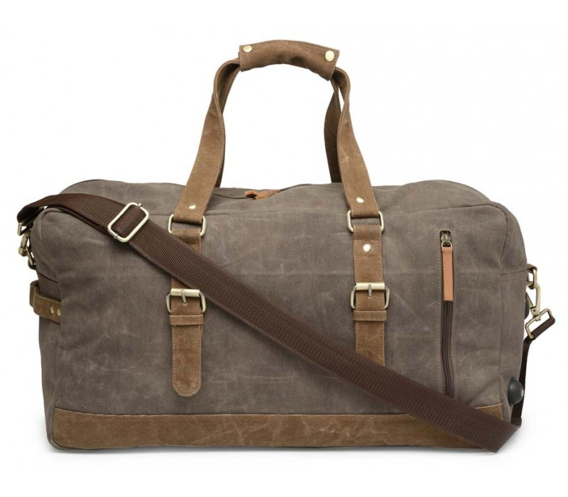 Special Canvas Large Duffle (Taupe Grey) HTD 146