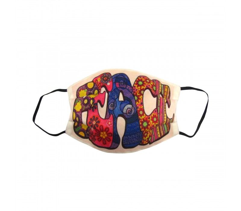 Multicolour White Three Layer Woven Fabric Virus Protection Washable Face Mask with Printed Design for Men, Women and Kids