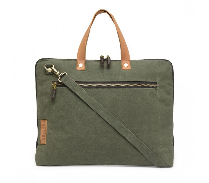 Slim Laptop Bag (Moss Green) HTLB 057
