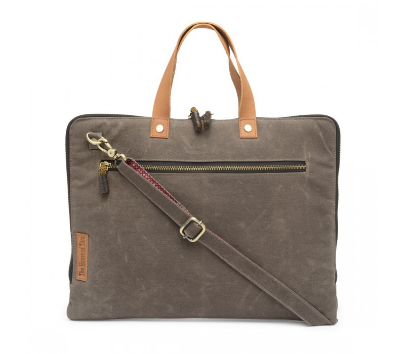Slim Laptop Bag (Taupe Grey) HTLB 059