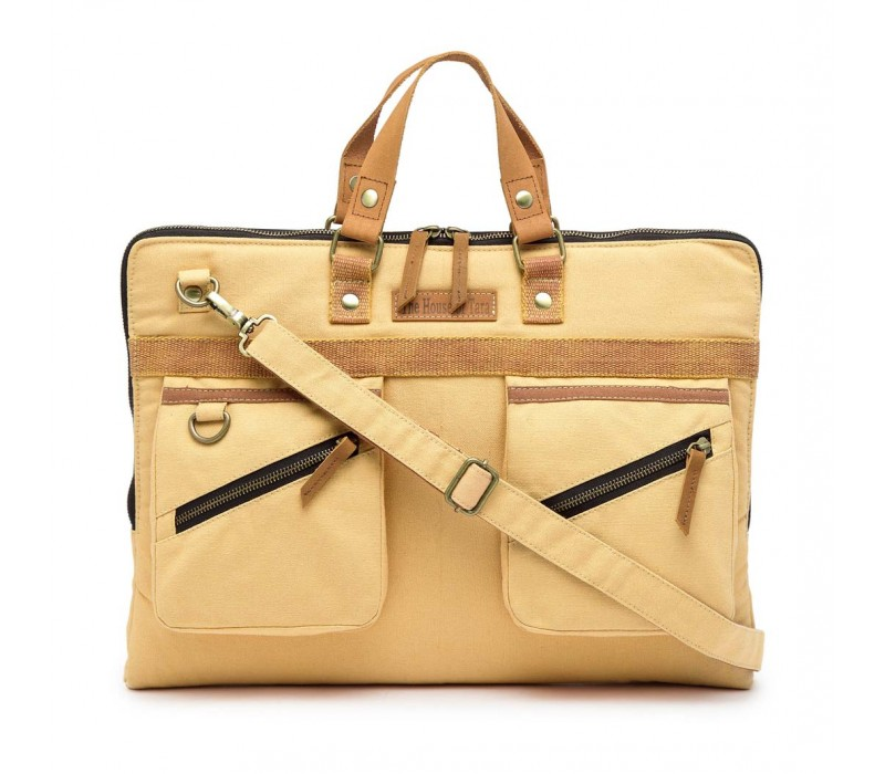 Slim Laptop Bag (Beige)