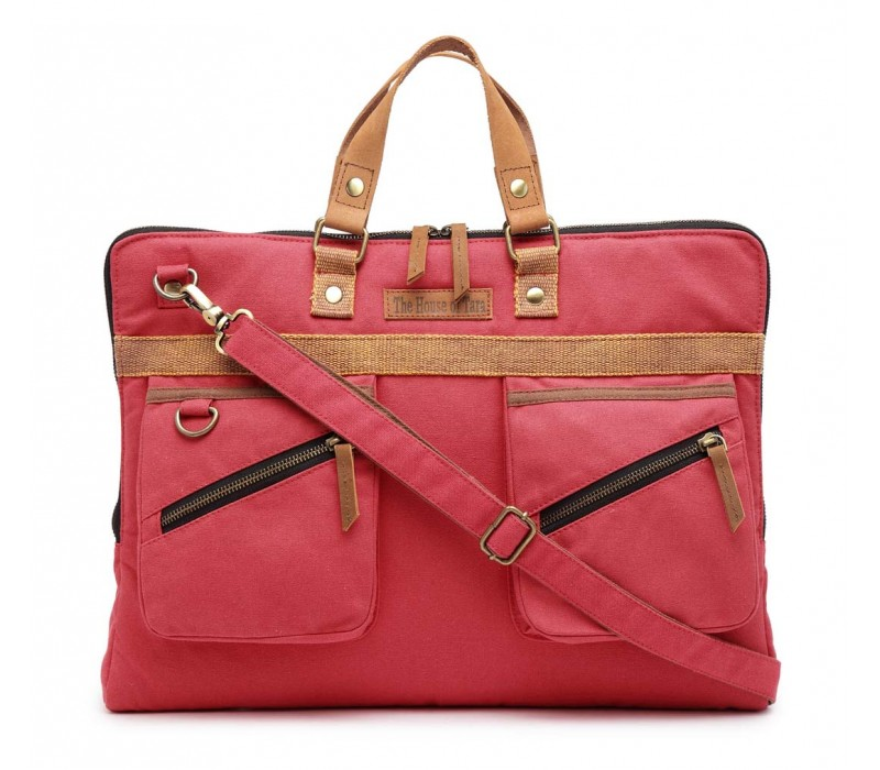 Slim Laptop Bag (Coral Pink)