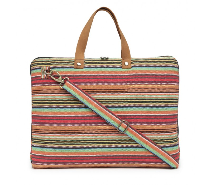 Handloom Fabric Slim Laptop Bag (HTLB 069)