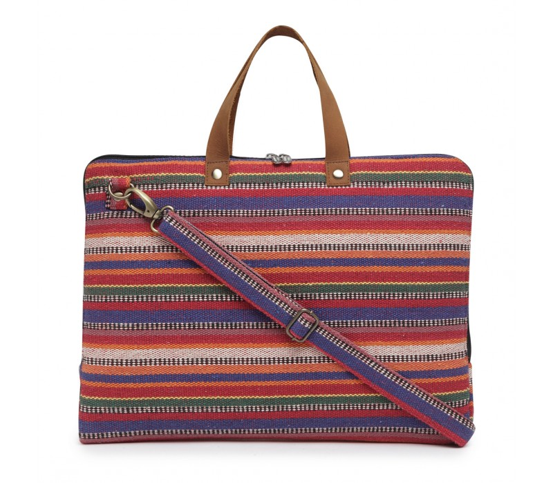 Handloom Fabric Slim Laptop Bag (HTLB 071)