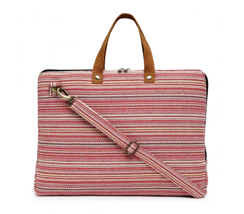 Handloom Fabric Slim Laptop Bag (HTLB 073)