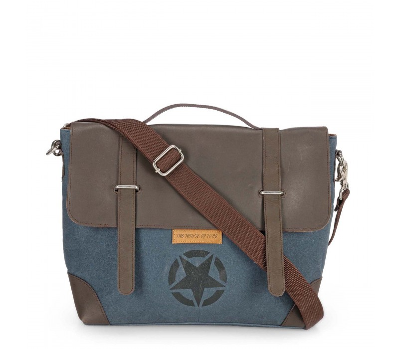 Star Laptop and Office Bag (Combat Blue,Coffee Brown)