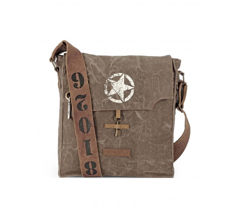 Canvas Messenger Bag (Acorn Brown)