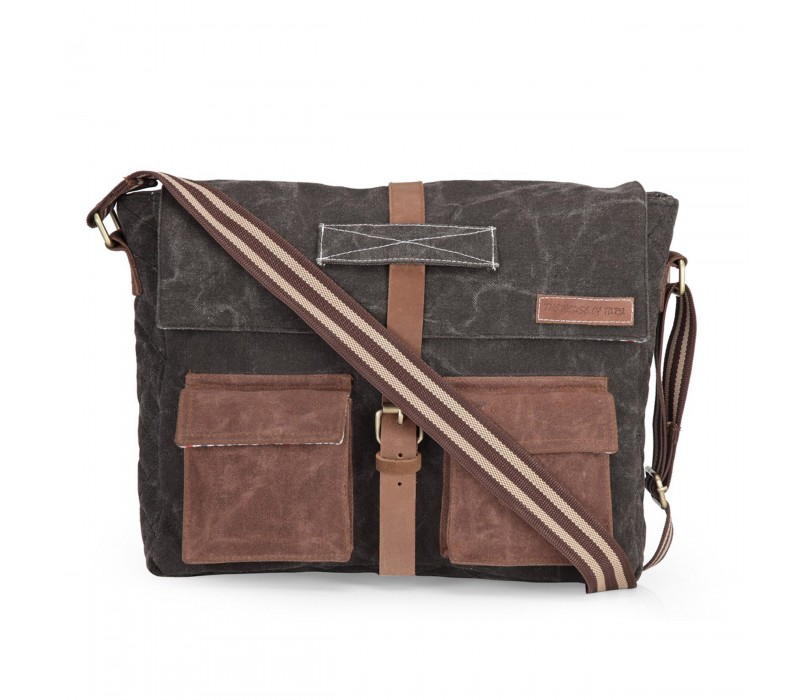 Rugged Canvas Messenger Bag (Phantom Black)