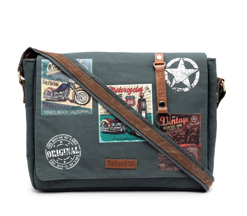 Laptop Messenger Bag (HTMB 090)- Combat Blue