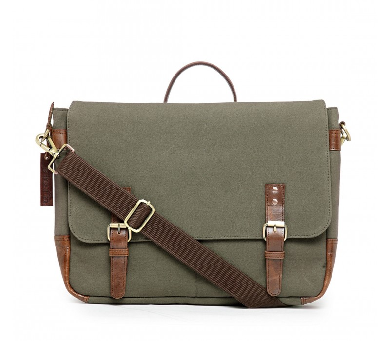 Unisex Messenger/ Office Bag - Moss Green