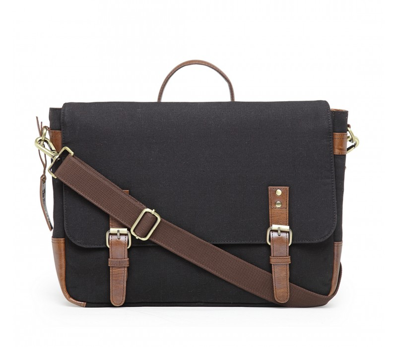 Unisex Messenger/ Office Bag - Raven Black