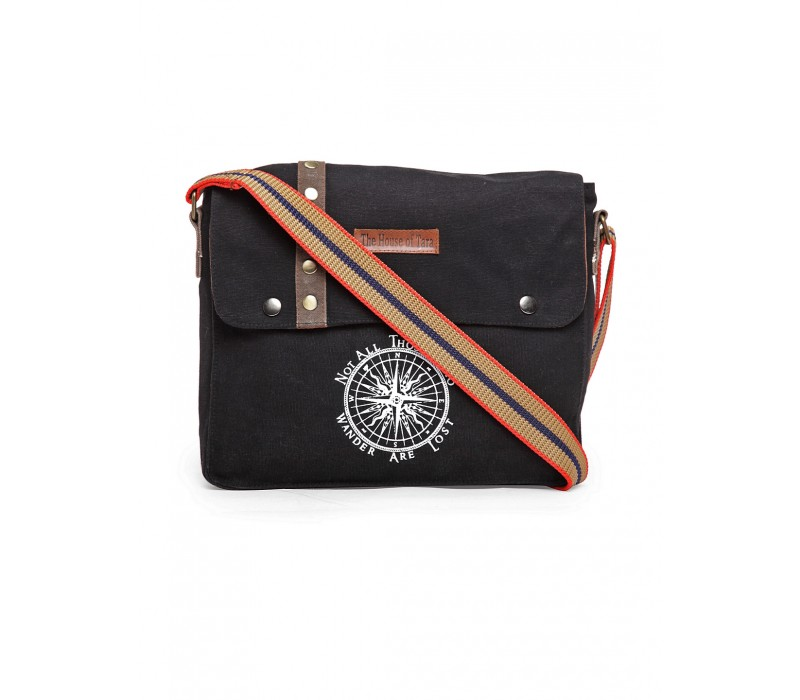 Unisex Messenger Bag (Raven Black)