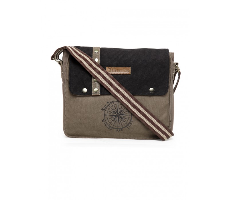 Unisex Messenger Bag (Grey-Black)