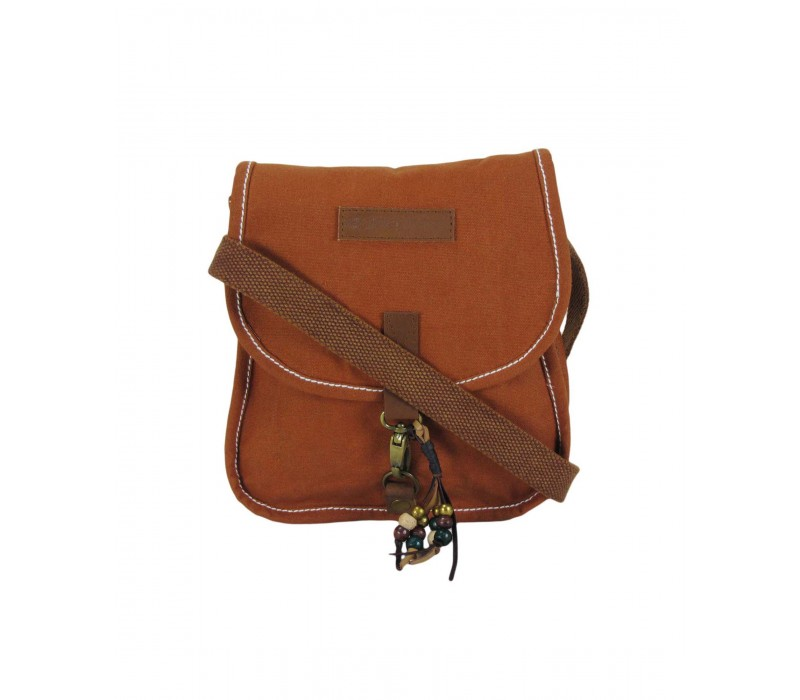 Waxed Canvas Messenger Bag (Rust)