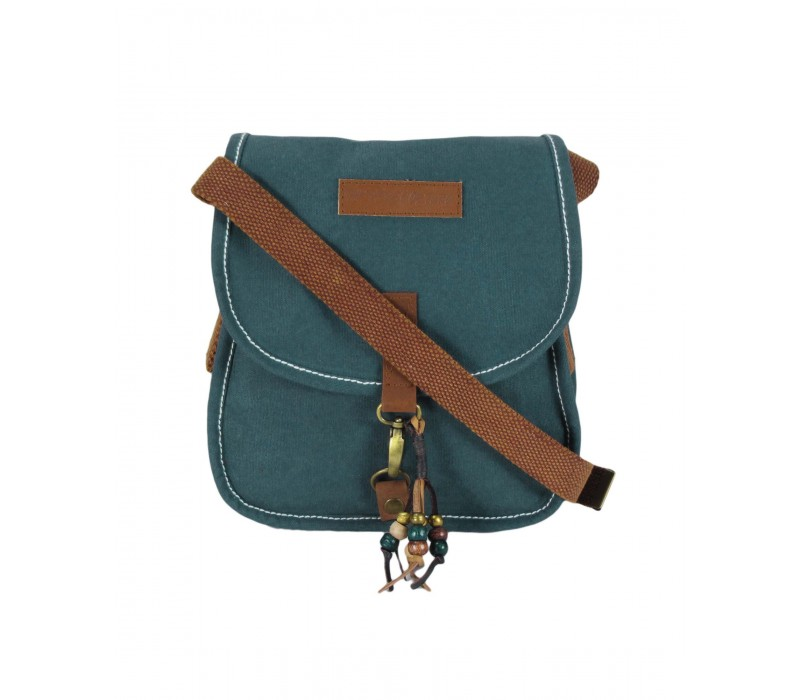 Waxed Canvas Messenger Bag (Combat Blue)
