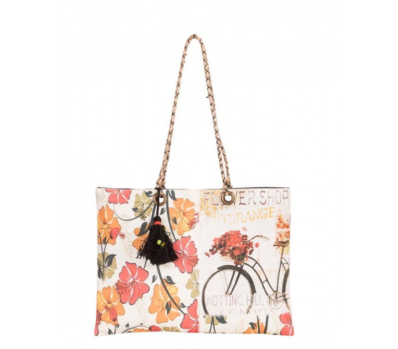 High Quality Printed Canvas Slim Tote