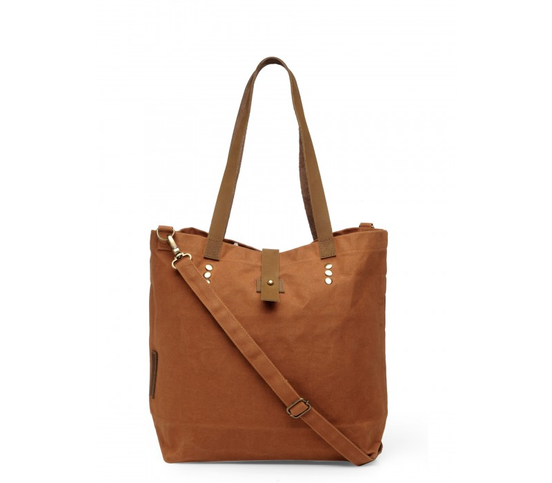 Canvas Shoulder Bag (Rust)