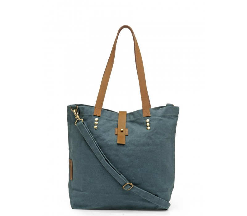 Canvas Shoulder Bag (Combat Blue)