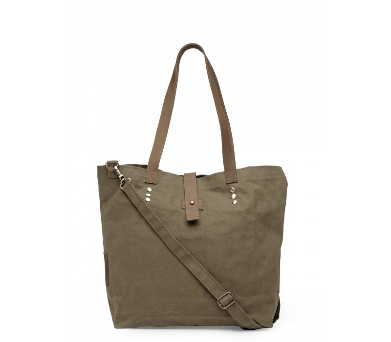 Canvas Shoulder Bag (Khaki)