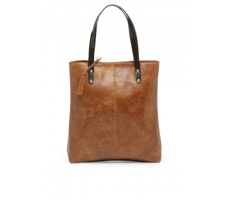 Genuine Leather Shoulder Bag (Distress Tan) HTT 363