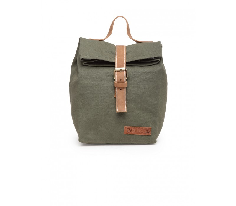 Canvas Lunch Box Bag (Moss Green - HTTB 003)