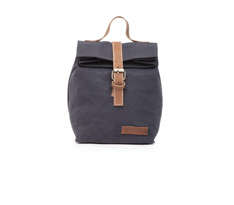 Canvas Lunch Box Bag - Midnight Blue