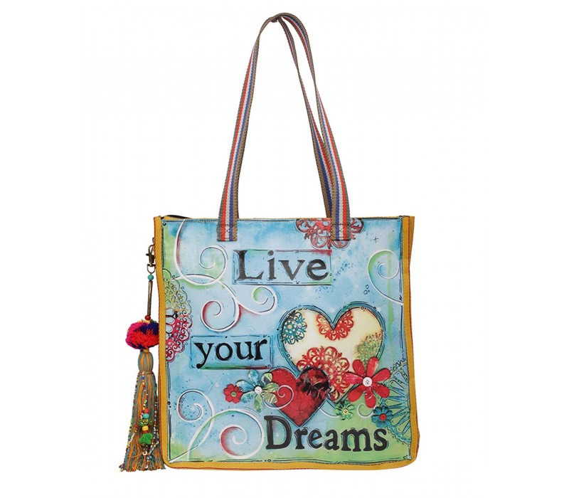 Statement Tote Bag in Water Proof Material (HTT 399)