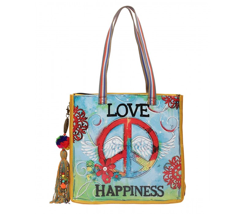 Statement Tote Bag in Water Proof Material (HTT 400)