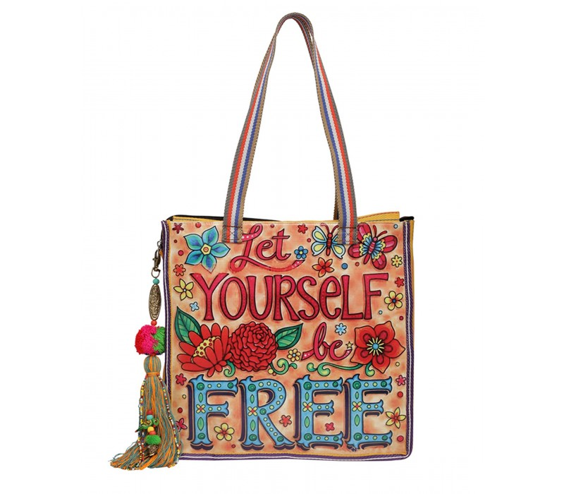 Statement Tote Bag in Water Proof Material (HTT 401)