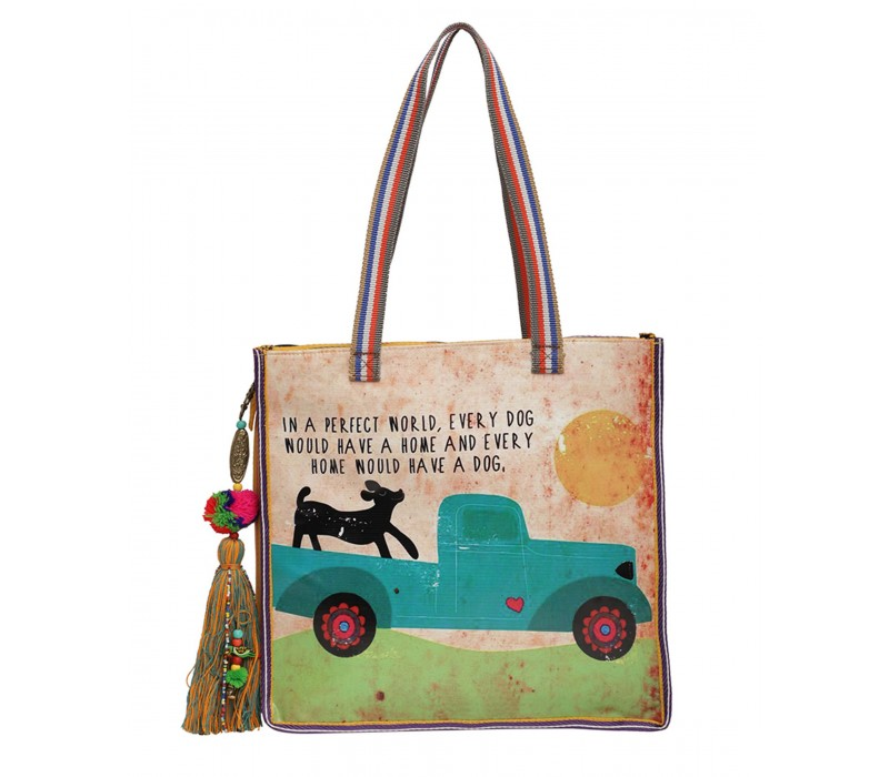 Statement Tote Bag in Water Proof Material (HTT 402)