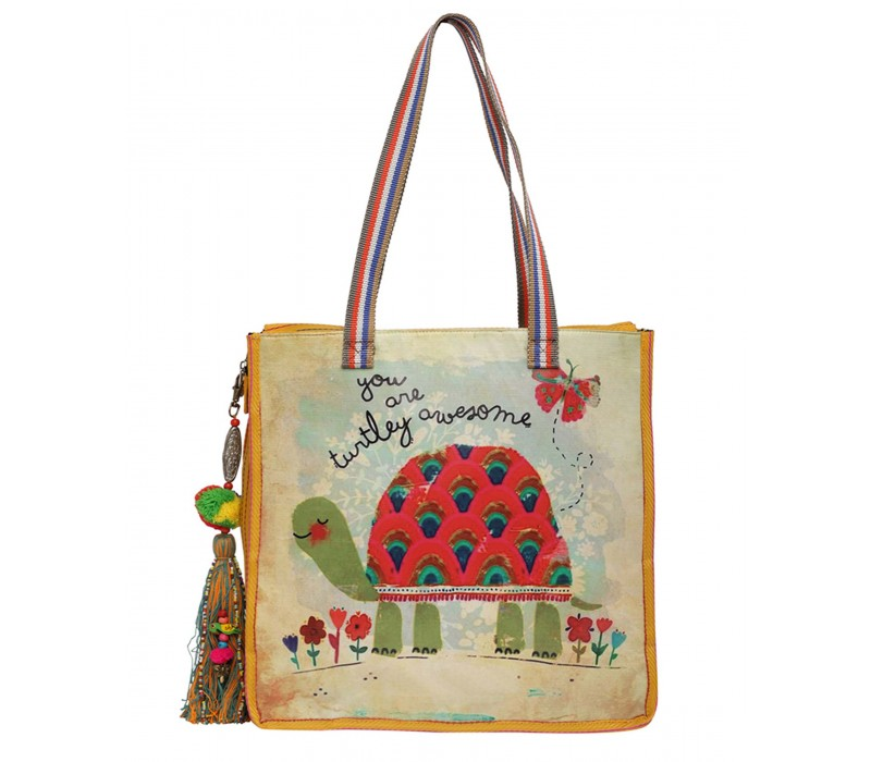Statement Tote Bag in Water Proof Material (HTT 403)