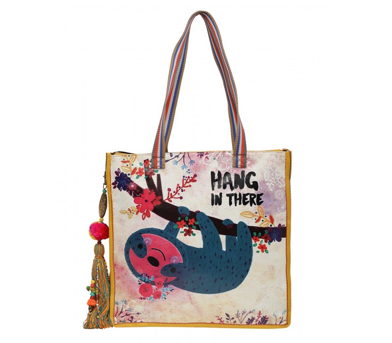 Statement Tote Bag in Water Proof Material (HTT 404)