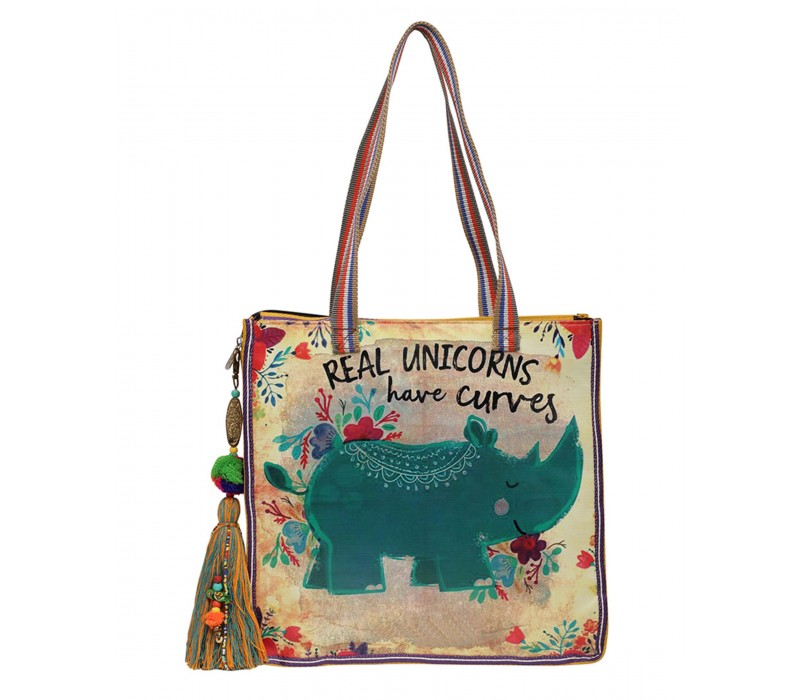 Statement Tote Bag in Water Proof Material (HTT 405)