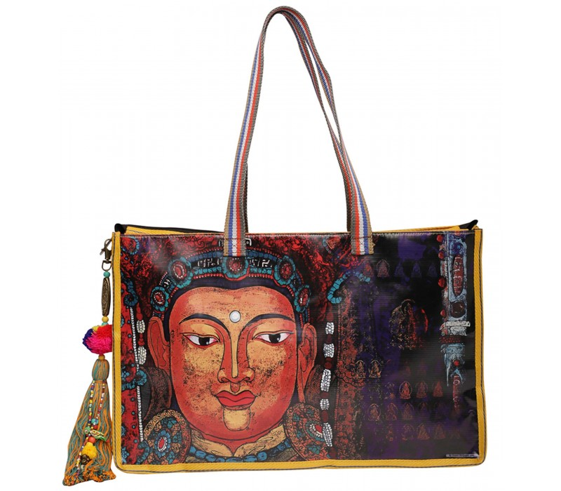 Statement Tote Bag in Water Proof Material (HTT 417)