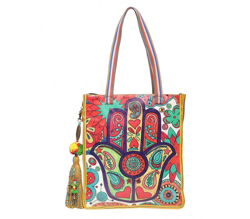 Statement Tote Bag in Water Proof Material (HTT 406)