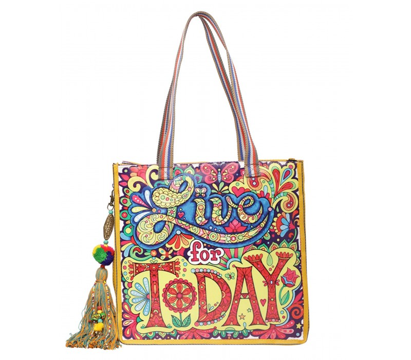 Statement Tote Bag in Water Proof Material (HTT 408)