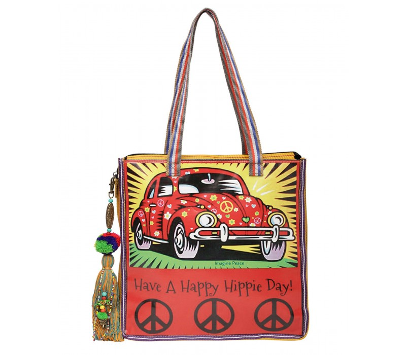 Statement Tote Bag in Water Proof Material (HTT 411)