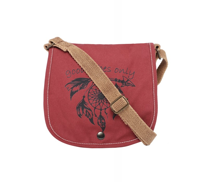 Printed Canvas Cross Body Bag (HTCB 076)