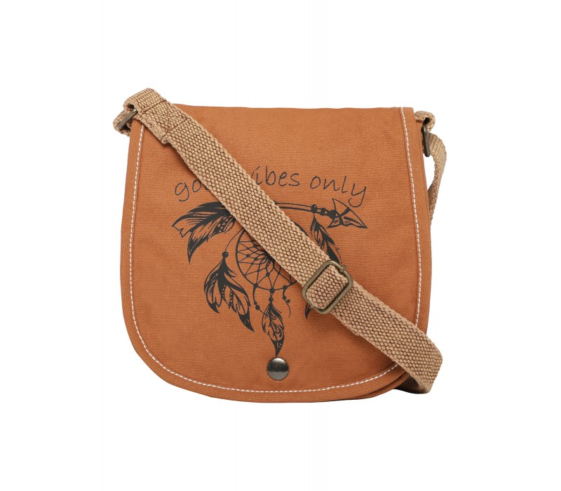 Printed Canvas Cross Body Bag (HTCB 074)