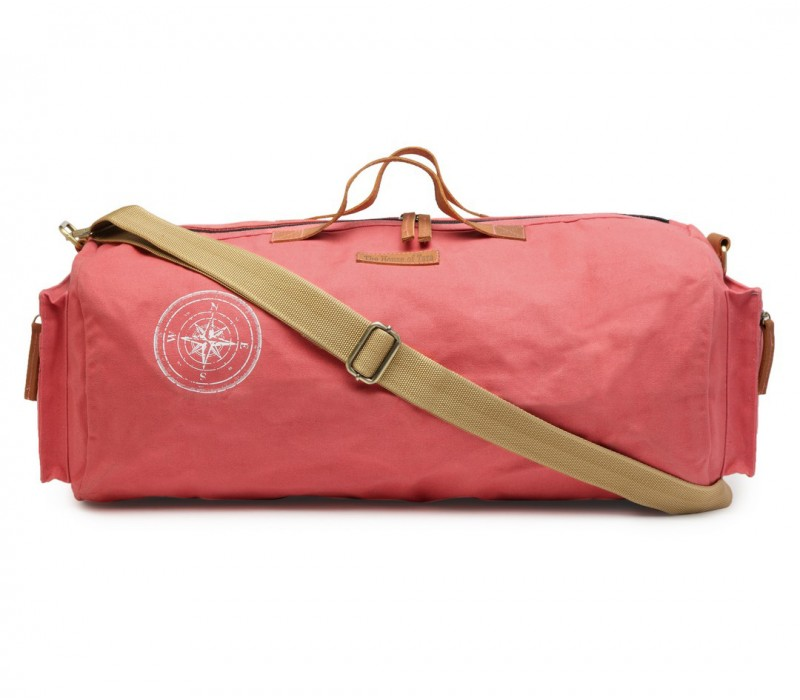 ac3d6acfabd5 Canvas Duffle Gym Bag (Coral Pink) HTD 139
